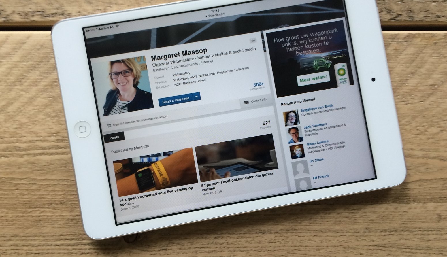 Linkedin profiel Margaret Massop