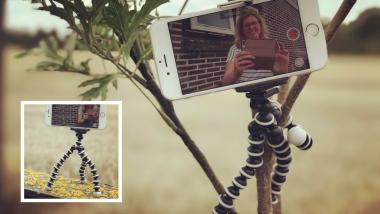 win een mini selfie tripod