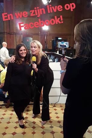 Live op Facebook tv-programma