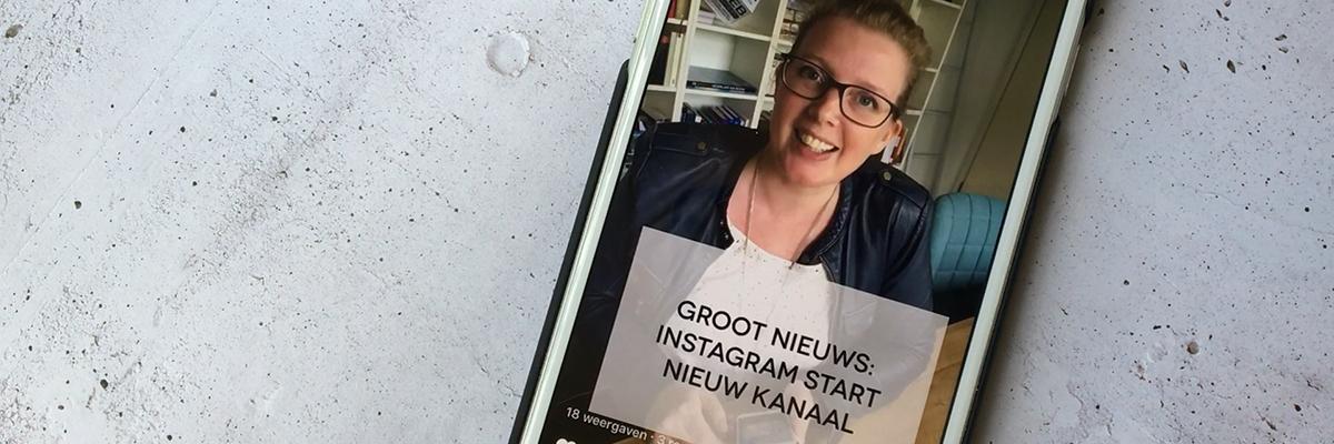 IGTV - nieuw video-kanaal Instagram. Foto van Margaret.