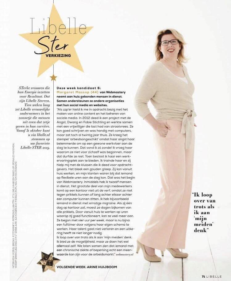 Libelle Ster verkiezing: Margaret Massop