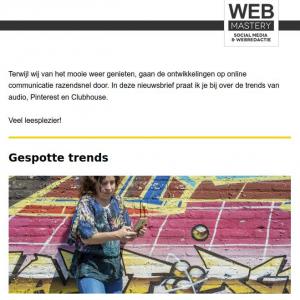 Nieuwsbief social media trends op audiogebied